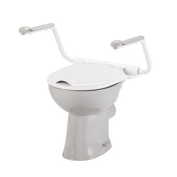 Toilet arm supports